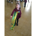 We danced around using big and small movements.