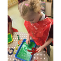 Exploring monster slime and letters.