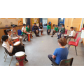 Year 6 had a wonderful time on the djembe drums learning about pulse, rhythm and timbre!