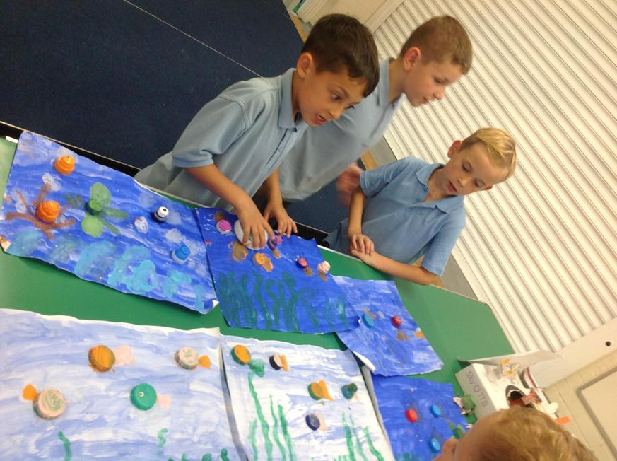 Year 2 didn't under the sea recycled art work