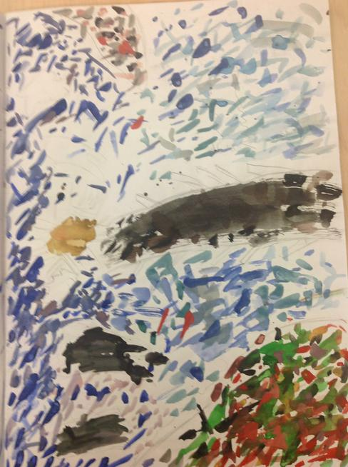Water colours in Year 5