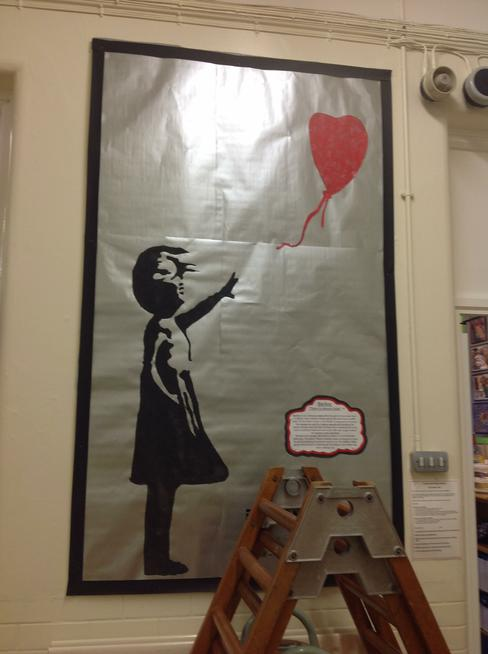 Year 5 studied the work of Banksy