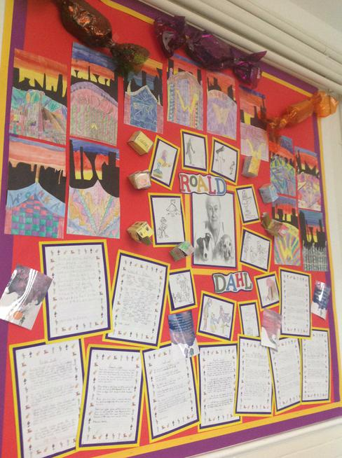 Roald Dahl display in Year 4