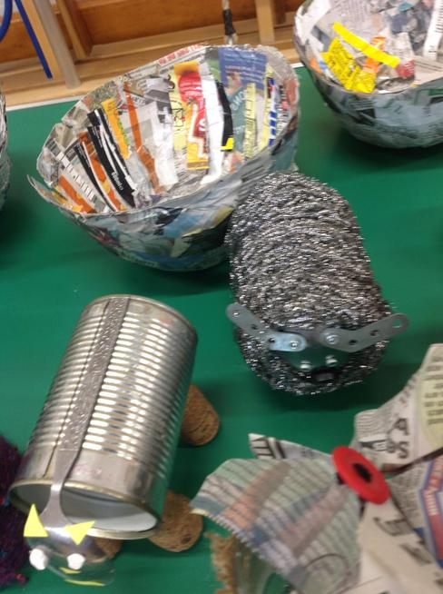 Tin cans made different animals