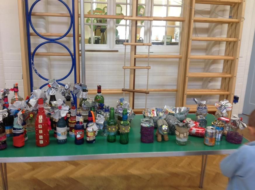 Year 4 upcycled bottles to make ornaments