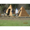 the teepees are up.....