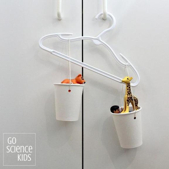 Try using a hanger, some wool and cups to measure an object!