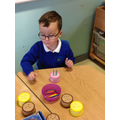 Counting candles on birthday cakes