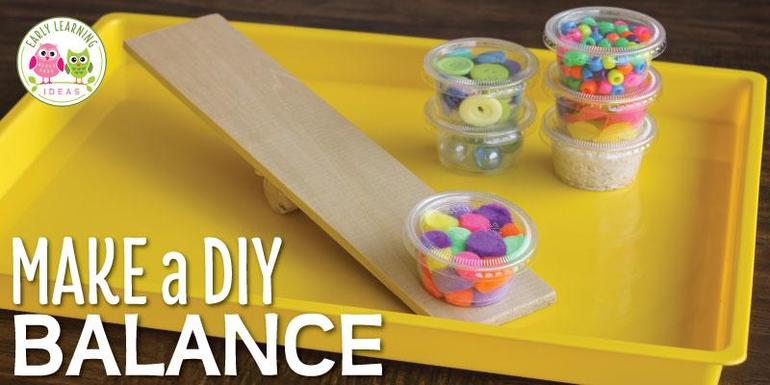 Something a bit sturdier! Use a plank of wood and dowel to balance with!