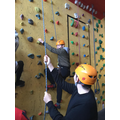 Our indoor climbing course is going well so far.
