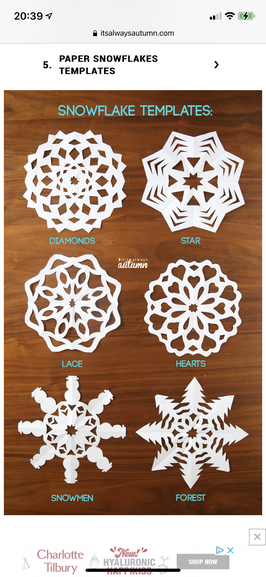 What different snow flake creations can you make?