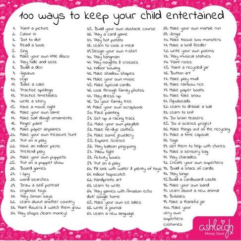 100 ways to keep your child entertained