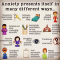 Different ways anxiety may present