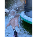 The joy of throwing snow!