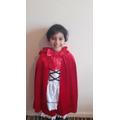 I like my red dress and cloak.