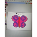 A beautiful butterfly made on Mini Mash Eliana