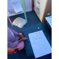 I am exploring different ways to show 7 on a domino.