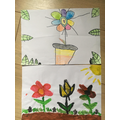 I have been drawing and painting more flowers.
