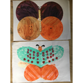 Sophia made these gorgeous butterflies.