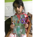 Wow..you turned your hands and feet into flowers!
