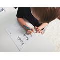 Practising writing my name