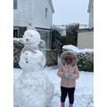 We built this snowman last week.