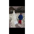I built 3 snowmen...1...