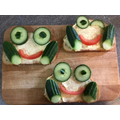 Andreja made these fabulous frog sandwiches!