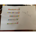Patrick coloured some beautiful repeating patterns