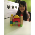 I built a mosque with my wooden blocks.