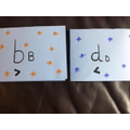 Teleya has been practising the letters b and d.