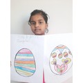 Durga and her Mum made these colourful eggs! 😊