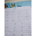 I am learning to write capital letters.