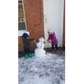 Look at our snowman!