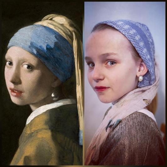 Which famous painting has Phoebe recreated?