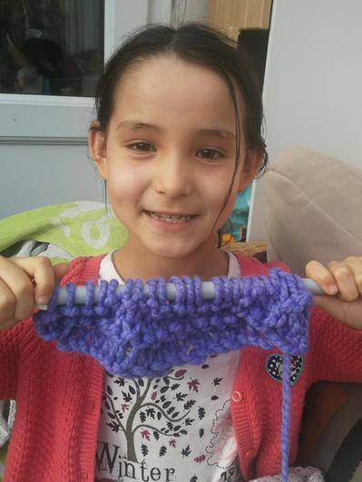 Amazing knitting by Mia!
