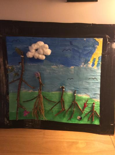 Hope's amazing Stick collage picture!