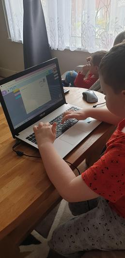 Kuba working really hard at home!