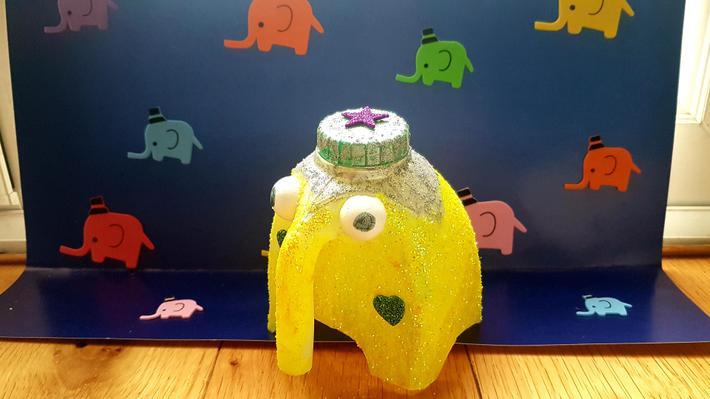 Nicole's glittery elephant!