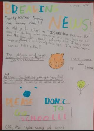 Luisa's amazing tiger report
