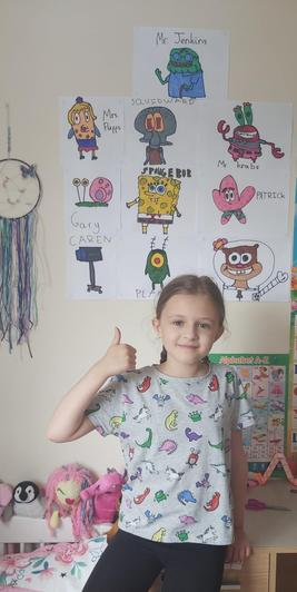 Luisa's Spongebob wall