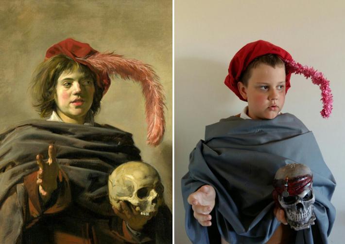 Frans Hals - Young Man holding a Skull by Oskar