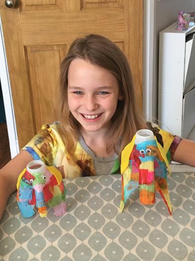 Phoebe's Elmer inspired elephants!