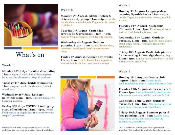 HAF Activities Leaflet