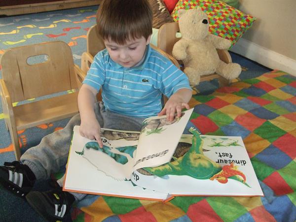 Enjoying reading stories