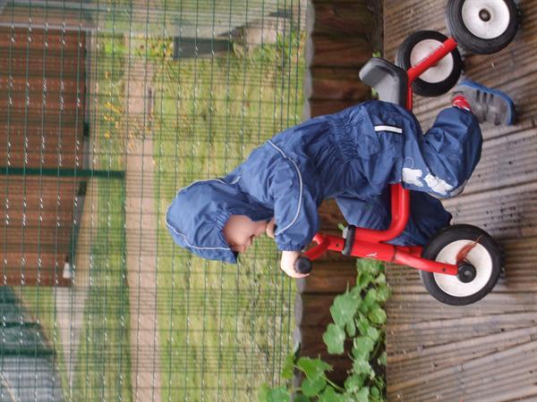 riding the bike in the rain