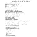 Our World is Beautiful by Orla Gange Y5