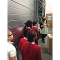 Touring the foodbank.