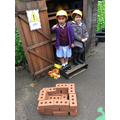 Caution, danger! Our budding builders are building new houses