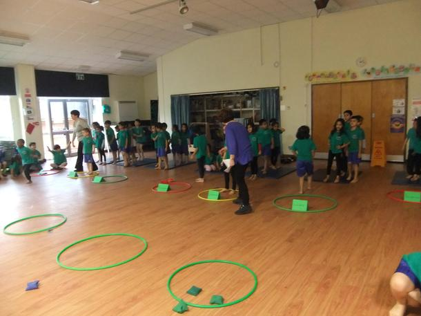 We had an Intra sports competition on 6th February